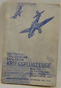 Original German Aircraft Recognition Booklet - Published 1941 - VGC